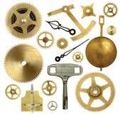 Viejas piezas del reloj Fotos de archivo libres de regalías