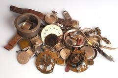Viejas piezas oxidadas del reloj Foto de archivo