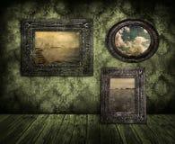 Viejas pinturas ilustración del vector