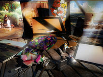 Viejas pinturas abandonned libre illustration