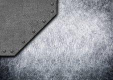 Viejas placas de metal rústicas con el fondo o el textu inconsútil de los remaches Fotografía de archivo libre de regalías