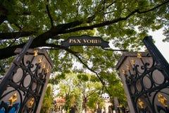 Viejas puertas del cementerio fotografía de archivo libre de regalías