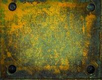 Viejas superficies de metal con moho y pintura Fotos de archivo libres de regalías