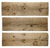 Viejas tarjetas de madera Fotografía de archivo libre de regalías