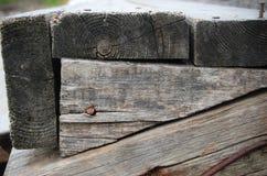 Viejas tarjetas de madera Fotografía de archivo