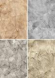 Viejas texturas de papel del grunge fijadas Fotografía de archivo libre de regalías