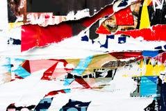 Viejas texturas del grunge de los carteles Fotografía de archivo libre de regalías