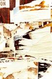 Viejas texturas del grunge de los carteles Fotos de archivo libres de regalías