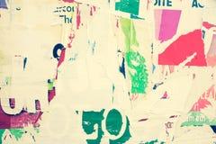 Viejas texturas del grunge de los carteles Fotos de archivo