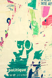 Viejas texturas del grunge de los carteles Imagen de archivo