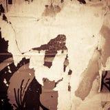 Viejas texturas del grunge de los carteles Fotografía de archivo
