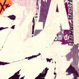 Viejas texturas del grunge de los carteles Foto de archivo