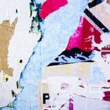 Viejas texturas del grunge de los carteles Imagen de archivo libre de regalías