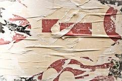Viejas texturas del grunge de los carteles Foto de archivo libre de regalías
