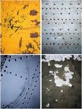Viejas texturas del metal fijadas fotografía de archivo libre de regalías