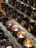 Viejas velas del rezo de la ciudad Imagen de archivo