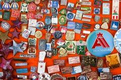 Viejas vueltas e insignias Fotografía de archivo libre de regalías