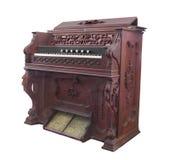 Viejo órgano de la bomba de la iglesia aislado Imagen de archivo