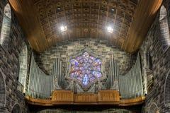 Viejo órgano en iglesia Fotos de archivo