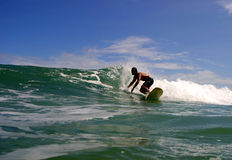 viejo σερφ rica puerto πλευρών surfer Στοκ Φωτογραφία