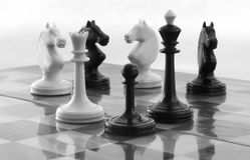 Viejo ajedrez Imagen de archivo libre de regalías