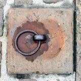 Viejo anillo oxidado del hierro Fotos de archivo