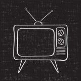 Viejo aparato de TV Foto de archivo