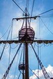 Viejo aparejo del velero Fotos de archivo