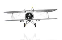 Viejo avión de combate en el fondo blanco con la palmadita del recortes Fotografía de archivo
