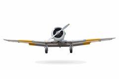 Viejo avión de combate en el fondo blanco con la palmadita del recortes Imagenes de archivo