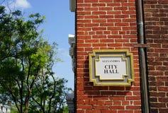 Viejo ayuntamiento - Alexandría, Virginia la ciudad foto de archivo libre de regalías