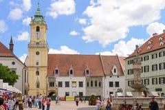 Viejo ayuntamiento Bratislava imágenes de archivo libres de regalías