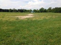 Viejo béisbol de Michigan del campo imagen de archivo libre de regalías