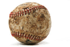 Viejo béisbol desgastado Fotos de archivo