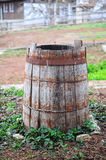 Viejo barell vacío del vino Fotos de archivo libres de regalías