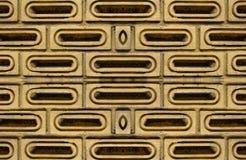 Viejo bloque en fondo de la pared Fotografía de archivo libre de regalías