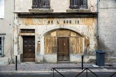 Viejo boulangerie francés en pequeña ciudad imagen de archivo libre de regalías
