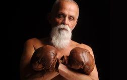 Viejo boxeador foto de archivo libre de regalías
