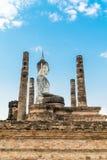 Viejo Buda en el templo Imagenes de archivo