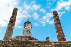 Viejo Buda en el templo en el parque histórico de Sukhothai Fotos de archivo libres de regalías