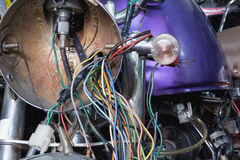 Viejo cableado eléctrico foto de archivo