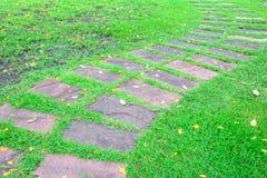 Viejo camino de piedra del bloque de Deco fotos de archivo libres de regalías