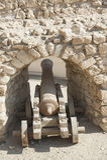 Viejo canon en un fuerte del otomano Imagen de archivo libre de regalías