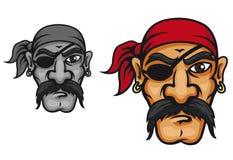Viejo capitán del corsario Imágenes de archivo libres de regalías