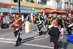Viejo carnaval de la ciudad, Hastings Foto de archivo