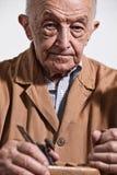 Viejo carpintero Fotografía de archivo