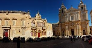 Viejo centro de ciudad de Mdina de Malta Foto de archivo