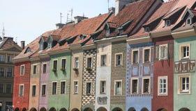 Viejo centro de ciudad de Poznán Fotos de archivo libres de regalías
