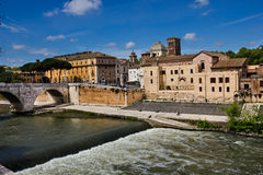 Viejo centro de ciudad de Roma Imagen de archivo