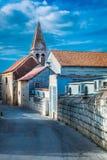 Viejo centro de ciudad Trogir Croacia Fotografía de archivo